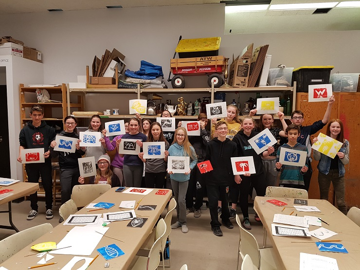 Grade 7 and 8 French Immersion students at WAG